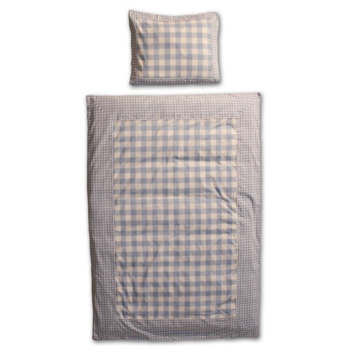 VICHY BLUE DUVET COVER
