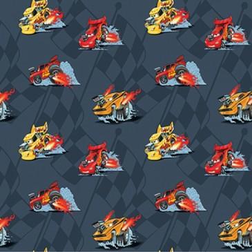 Cars Disney Fabric VROOM.57.140