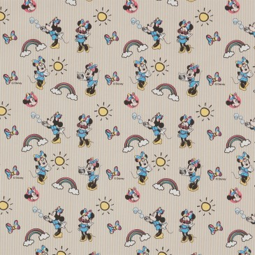 Disney Minnie Mouse Fabric RAINBOW.13.140