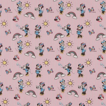 Disney Minnie Mouse Fabric RAINBOW.33.140