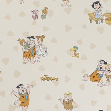 Flintstones Warner Bros Fabric RUBBLE.11.140